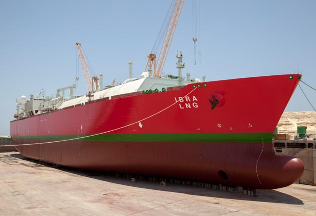 LNG Ibra - Size: 285.1 x 43.4 x 4.3