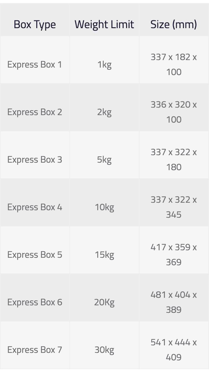 ASYAD Express Boxes
